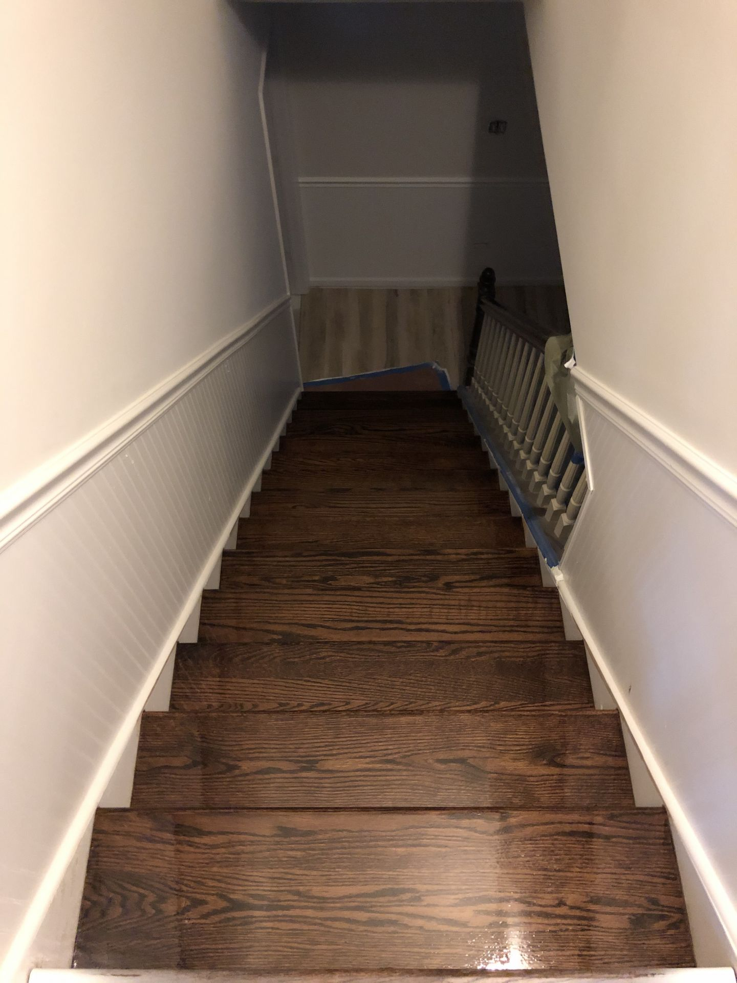 Coffee Brown Stain And Bona Woodline Chicago Floorecki